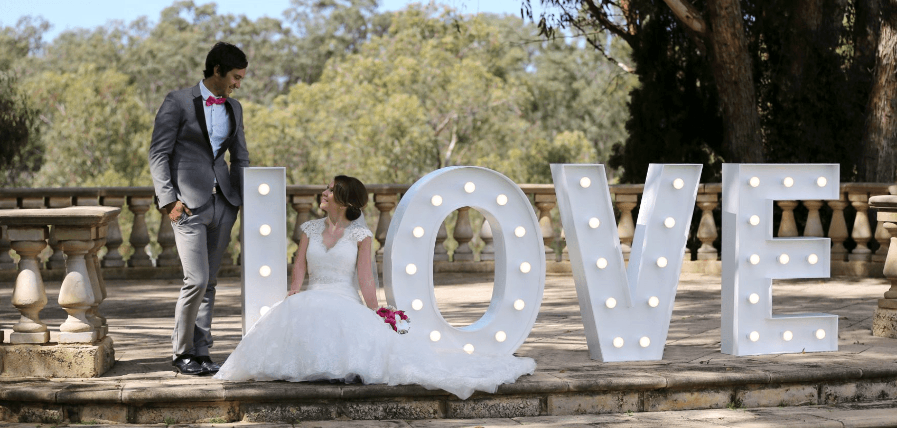 marquee light letters and symbols